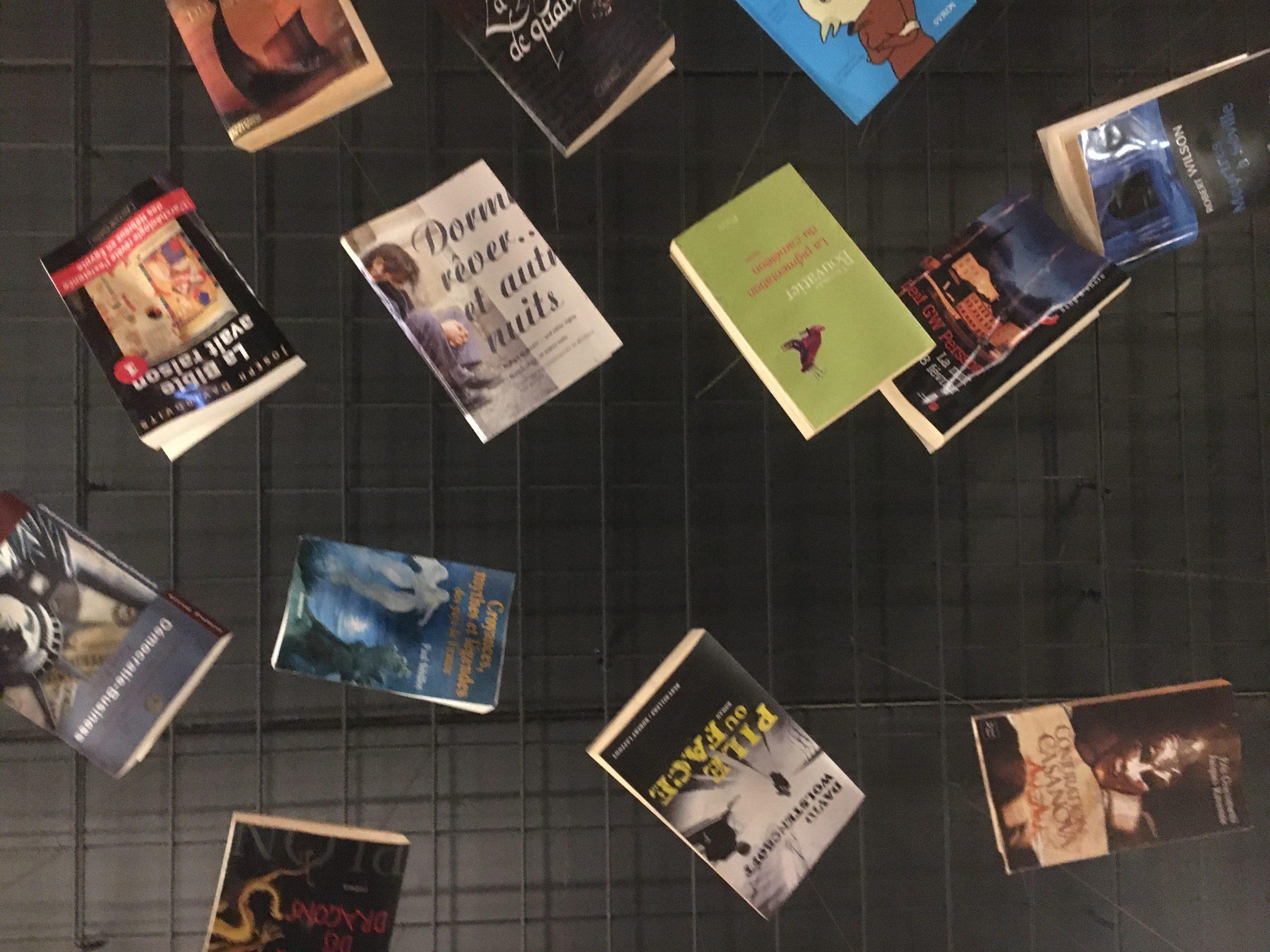 plafond de livres