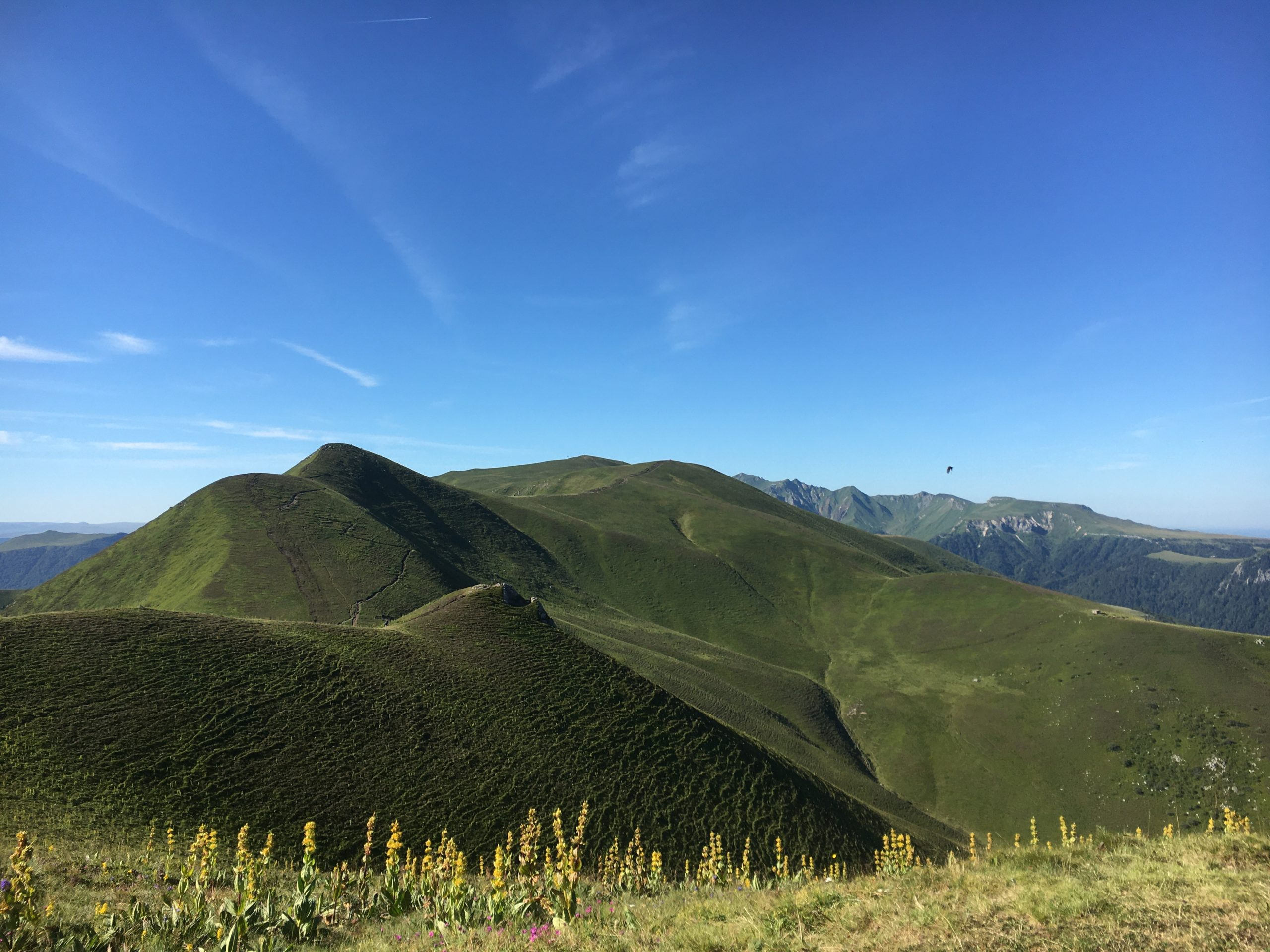 randonnée vue montagne