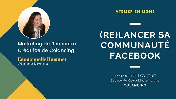 Atelier 3 (Re)lance ta communauté Facebook