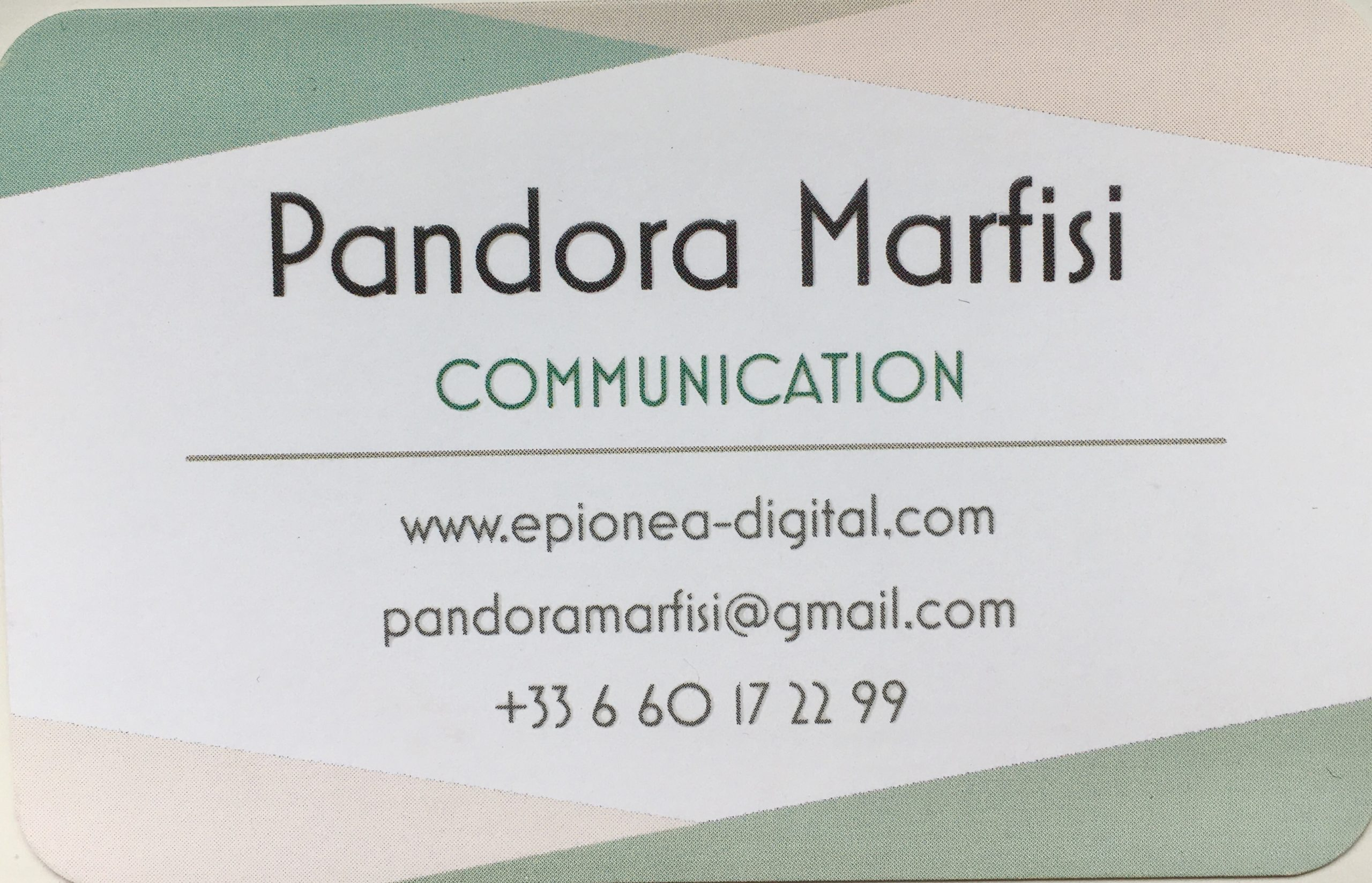 carte de visite Pando Epionea